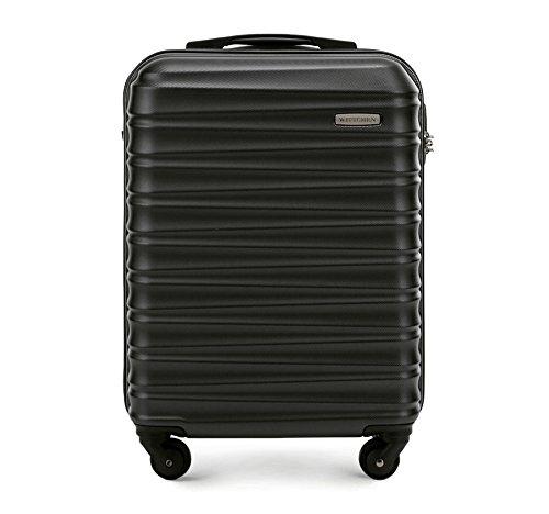 WITTCHEN Koffer – Handgepäck | hartschalen, Material: ABS | hochwertiger und Stabiler | Schwarz | 34 L | 54x20x38 cm
