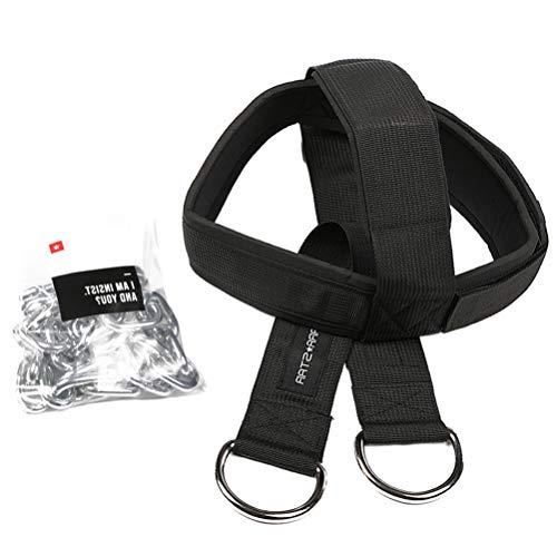Abaodam Kopf- und Nackentrainer Schultergewicht Training Kopf und Nacken Kappe Training Nackenkappe Fitnessgerät für Erwachsene (schwarz)