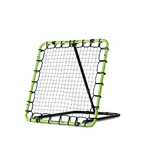 EXIT Fußball Rebounder Tempo - 100x100cm - Grün/Schwarz - Fußball Trainingszubehör - Verstellbar in 7 Stufen