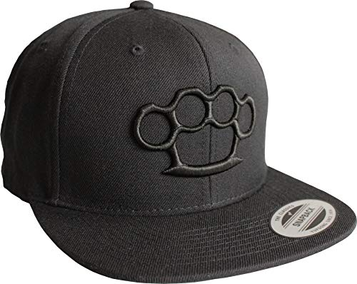 Cap: Schlagring - Flexfit Snapback - Urban Streetwear - Basecap - Männer Mann Frau-en - Baseball-Cap - Hip-Hop Rap - Mütze - Kappe - MMA Fight - Gang-Ster - Retro (One Size)