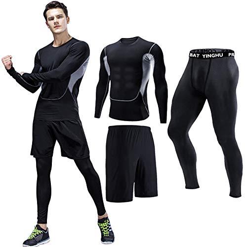 Danfiki Sportbekleidung Herren Fitness Bekleidung Trainingsanzug Set Kompressionsshirt