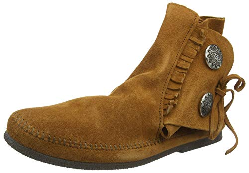 Minnetonka Men's Two Button Hardsole Boot 7 M Brown