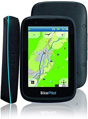 BikePilot²+ Fahrrad,Fahrradnavi, Wander,Outdoor GPS Navigationsgerät,3,5 Zoll kapazitives Display,45 europäische Länder,Rundkursfunktion,elektronischer Kompass,Geocaching,Fahrradhalterung