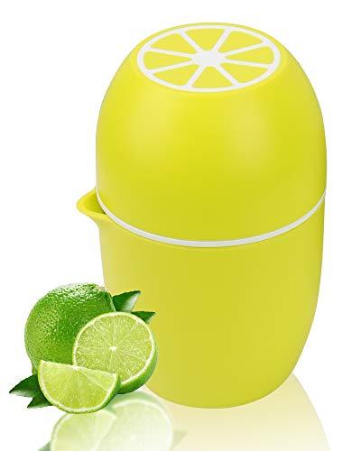Lechin Zitronenpresse Einzigartiger Zitruspresse in Zitronenform Manueller Entsafter mit zwei Pressmöglichkeiten für verschiedene Früchte (Gelb)