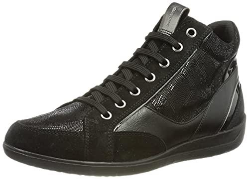Geox Damen D Myria A Sneaker, Black, 40 EU