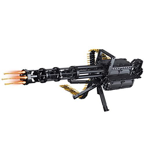 KEAYO Technik Sturmgewehr mit Schussfunktion, Technik Gewehr Waffen Gatling Modell Klemmbausteine Bausatz Kompatibel mit Lego Gewehr