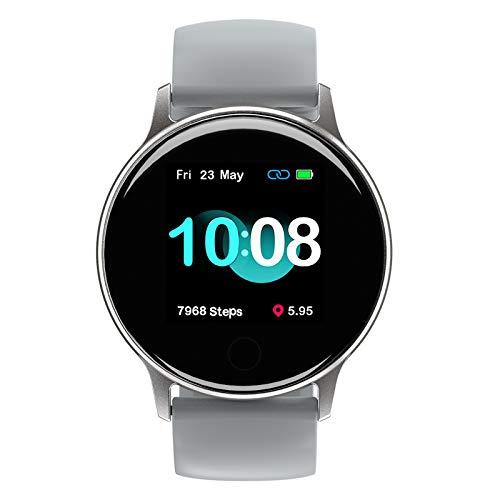 Smartwatch, UMIDIGI Uwatch 2S wasserdichte Fitnessuhr mit individualisierbaren Zifferblätter, Fitness Tracker Smart Watch mit Pulsuhr, Stoppuhr, Schrittzähler für Damen und Herren, Titangrau