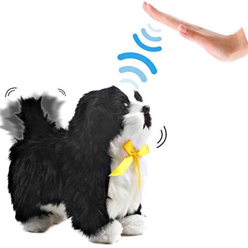 deAO Interactive Electronic Haustier Dog Toy mit Bellen, Gehen, Schwanzwedeln Berührungserkennung und Musikfunktionen für Kinder