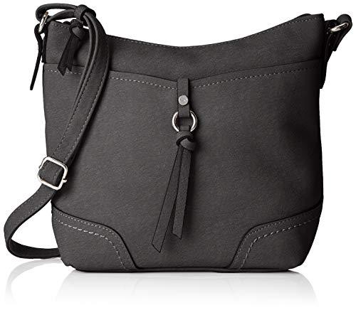 TOM TAILOR bags IMERI Damen Umhängetasche S, black, 28x8,5x25