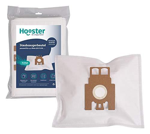 Hooster 20 Stück Staubsaugerbeutel passend für Swirl M 40 / M 49 / M40 / M49 / Typ G/N GN/HyClean 3D mit Zusatzfiltervlies