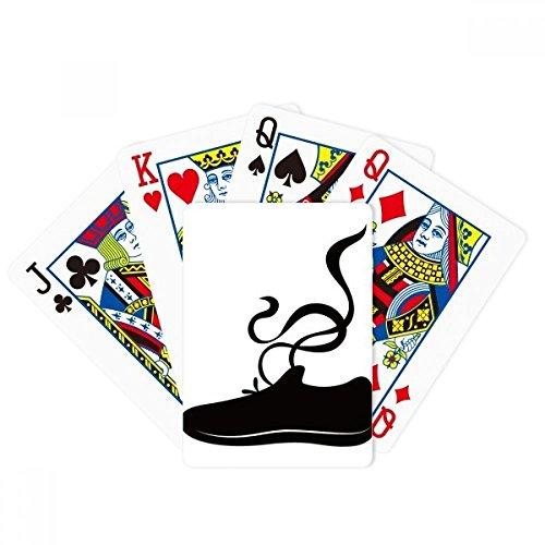 Herren Sportschuhe Schwarz Umrissmuster Poker Spielen Magic Card Fun Brettspiel