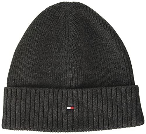 Tommy Hilfiger Herren Pima Cotton Beanie Hut, Charcoal Gray, OS