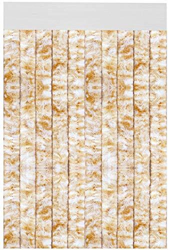 Arsvita Flauschvorhang 56x185cm (Meliert Beige/Weiß), Perfekter Insekten- und Sichtschutz für Ihren Wohnwagen/Caravan, viele Farben erhältlich