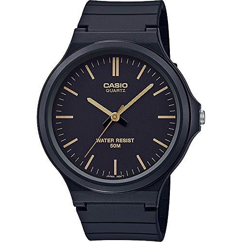 CASIO Unisex Erwachsene Analog Quarz Uhr mit Harz Armband MW-240-1E2VEF