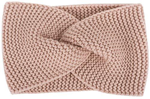 styleBREAKER Damen Feinstrick Stirnband mit Twist Knoten, Krausstrick Muster, warmes Winter Haarband, Headband 04026054, Farbe:Altrose