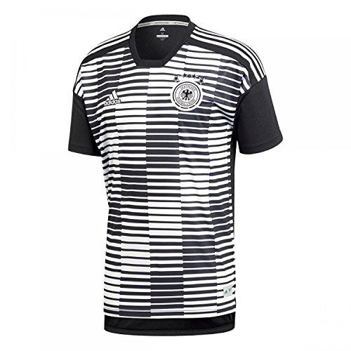 adidas Herren DFB Pre Match Shirt Trainingstrikot, White/Black, L