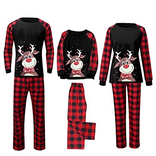 Mutter Vater Baby Shirt Set Kleidung Partnerkleidung Einfache Freuden Weihnachten Familie Baumwollhemd Hose Oder Baby Strampler Homewear Schlafanzug Damen Lang Winter Pyjama Set Zweiteiliger Sleepwear