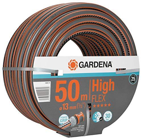 Gardena Comfort HighFLEX Schlauch 13mm (1/2 Zoll), 50 m: Gartenschlauch mit Power-Grip-Profil, 30 bar Berstdruck, formstabil, UV-beständig, verpackt (18069-20)