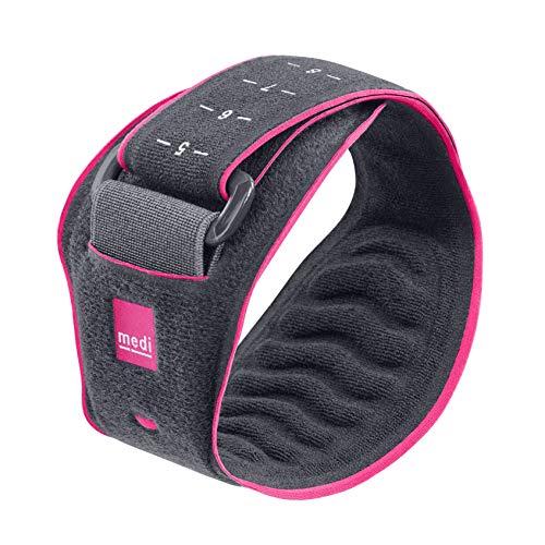 medi Epibrace - Epicondylitisspange unisex | grau/pink | Unterarmbandage zur Schmerzlinderung der Sehnenansätze | Beidseitig tragbar