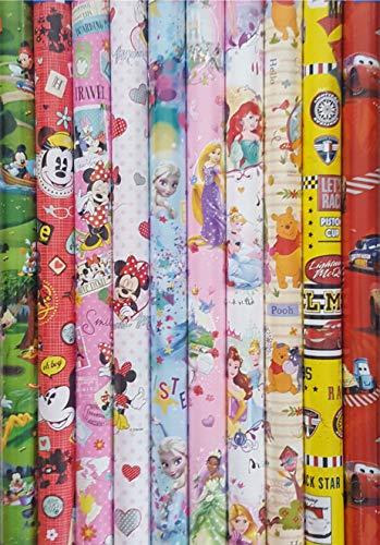 Disney Geschenkpapier verschiedene Motive für Mädchen und Jungen