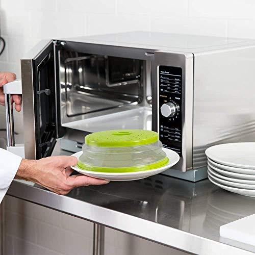 Nifogo Mikrowellen Abdeckung 27CM spülmaschinenfest,Faltbare Mikrowellenabdeckhaube,Frisches,Essen,Obstkorb,Gemüsewaschbecken,BAP-frei und ungiftig (Grün)