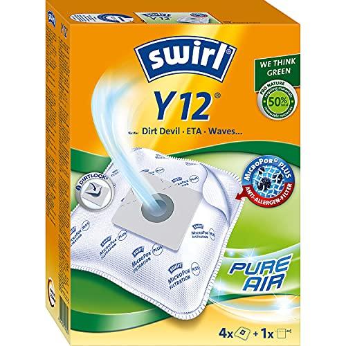 Swirl M 49 MicroPor Plus Staubsaugerbeutel für Miele Staubsauger, Anti-Allergen-Filter, 4 Stück inkl. Filter