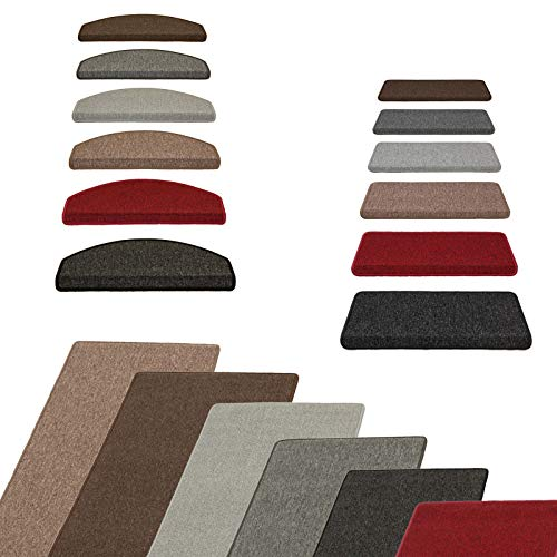 Metzker Stufenmatten Ariston kombinierbar mit Teppich Läufer Kaffeebraun Rechteckig 15er Set