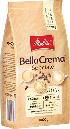 Melitta BellaCrema Speciale, Ganze Kaffeebohnen, Stärke 2, 1kg