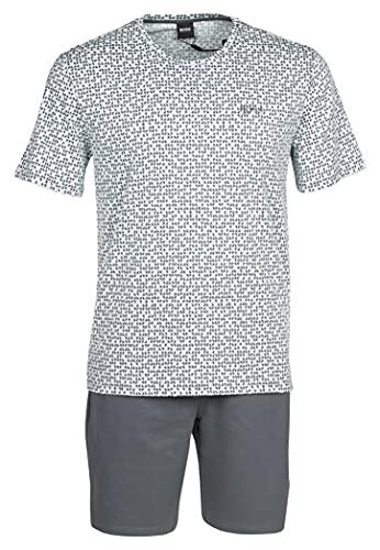 BOSS Herren Relax Short Set Pyjamaset, Dark Green309, L
