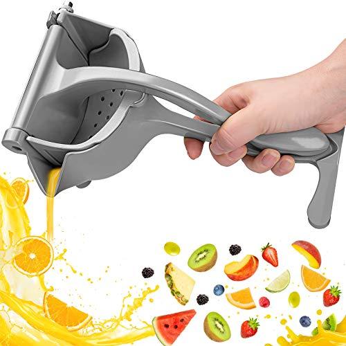 Hochwertiger Zitronenpresse schweres Design,Saftpresse Manuell Entsafter,tragbarer manueller Entsafter für Obst, Zitronen, Orangen Anti-Ätzmittel, Spülmaschinenfest, Fruchtsaft, Robust und Langlebig