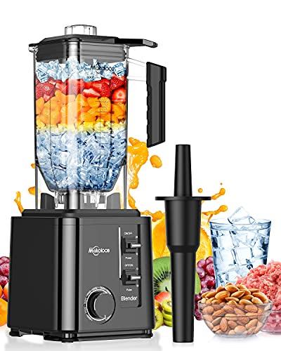 Standmixer Smoothie Maker, Makoloce 2200W Blender Mixer für Shakes und Smoothies mit 10 Geschwindigkeiten und 2.2L ohne BPA Tritanbehälter, Professioneller Blender mit Pulsfunktion, Sicherste Design