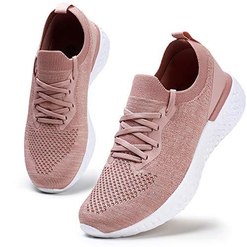 HKR Damen Walkingschuhe Turnschuhe Laufschuhe Sportschuhe Fitness Sneakers Trainers für Running Outdoor Schuhe Pink 35/EU