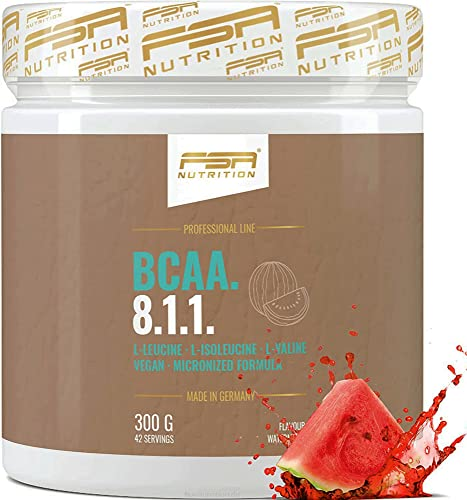 FSA Nutrition BCAA Pulver 8:1:1 - Aminosäuren Leucin, Isoleucin, Valin - 300 g, Wassermelone
