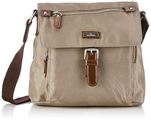 TOM TAILOR bags RINA Damen Umhängetasche S, taupe, 22,5x9x19