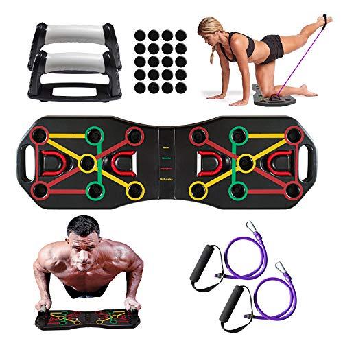 Honmax Push Up Rack Board - Liegestützgriffe Trainingsgeräte für Zuhause, Fitness Geräte für Kraftraining, Brust, Handgelenk, Fitness Parallettes, Liegestütze Brett, Home Training Sportgeräte