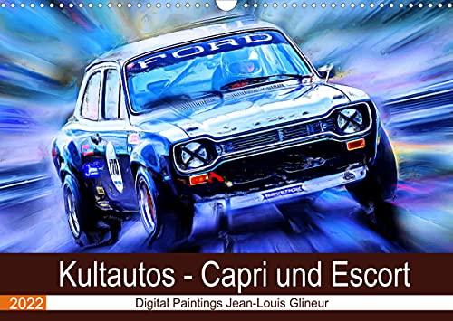 Kultautos - Capri und Escort (Wandkalender 2022 DIN A3 quer): Autos mit sportlichem Charakter und Kultstatus (Monatskalender, 14 Seiten ) (CALVENDO Mobilitaet)