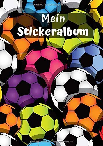 Mein Stickeralbum: Motiv Fußball No. 4   30 Seiten   DIN A4   Blanko   Kein Silikonpapier   Geschenkidee