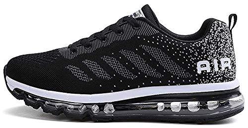 tqgold Sportschuhe Herren Damen Laufschuhe Turnschuhe Sneakers Leichte Schuhe (Schwarz,39 Größe)
