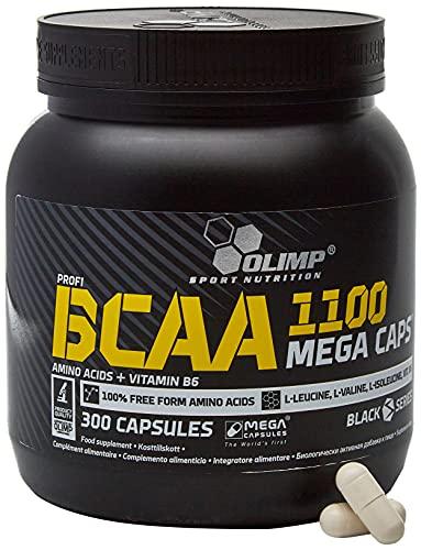 OLIMP- BCAA 1100 Mega Caps. Aminosäuren Kapseln (300Stk). Hochdosiertes Nahrungsergänzungsmittel