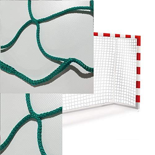 Sedion 1 Paar Handball-Netze und Futsal-Tore in Blau, Grün, Rot oder Schwarz, 3 x 2 m, aus Polypropylen, 3 mm, Profi-Qualität (Grün)