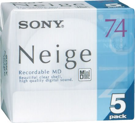 5Sony Mini Disc Neige Sony MD 74Minute blanko MiniDisc