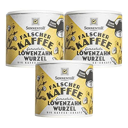 Sonnentor - Löwenzahnwurzel geröstet Falscher Kaffee Dose - 75 g - 3er Pack