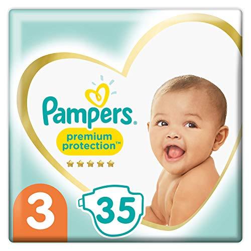 Pampers Baby Windeln Größe 3 (6-10kg) Premium Protection, 35 Stück, Pampers Weichster Komfort Und Schutz