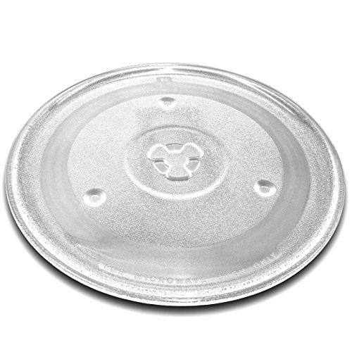 vhbw Universal Mikrowellen-Teller für diverse Mikrowellen z.B. kompatibel mit Bosch, Siemens, Bauknecht - Drehteller, 27 cm, Glas, Transparent