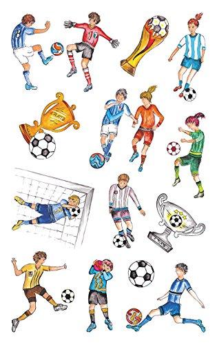 AVERY Zweckform 56796 Metallic Stickers, Fußball, 13 Aufkleber