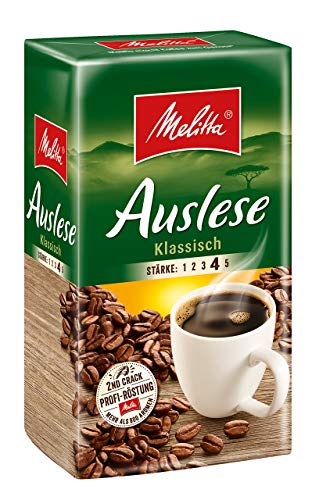 Melitta Auslese Klassisch,Gemahlener Röstkaffee, Stärke 4, 500g
