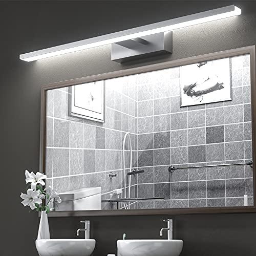 LED Spiegelleuchte Badezimmer Lampe 60cm, VITCOCO® Bad Spiegel Beleuchtung Lampe 15W 1200lm 60cm Badlampe Spiegellampe Mit Schalter Beleuchtung Neutralweiß 6000k IP44 wasserdicht LED Make-up Light