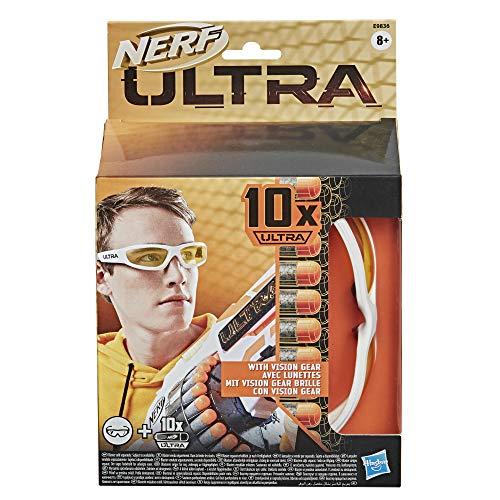 Hasbro E9836EU4 Nerf Ultra Vision Gear Brille und 10 Nerf Ultra Darts – das Nonplusultra beim Abfeuern von Nerf Darts – die Darts sind nur mit Nerf Ultra Blastern kompatibel