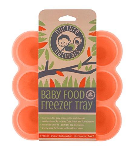 Babybrei Aufbewahrung zum Einfrieren von Babynahrung und als Behälter für Beikost | 2 Farben zur Auswahl | BPA-frei & FDA zugelassen | 9 x 75ml, ideale Portionsgröße