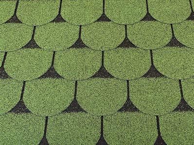 Isolbau Dachschindeln 3m² Biberschindeln Grün (21 Stk) Schindeln Dachpappe Bitumenschindeln Gartenhaus Vogelhaus Holz Kaninchenstall Betonsäulenüberdeckung Hundehütte